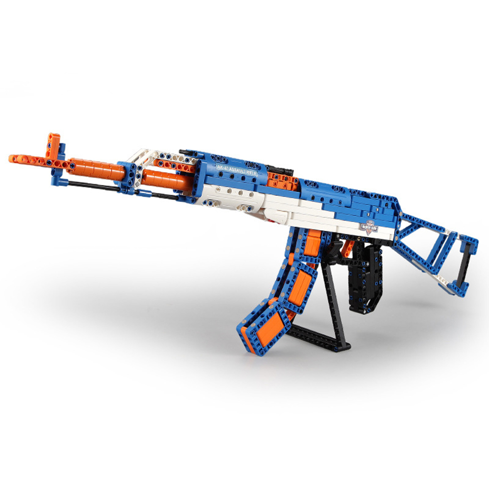 cada technic building blocks AK-47  gun  military legou toy bricks weapon set can fire  rubber band  toys for children boys kids 4