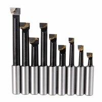 9 Pcs Duurzaam Harde Legering Schacht Kotterbaar Set Hardmetalen Bars 12 Mm Voor 2 Inch 50 Mm Boring hoofd Voor Draaibank Frezen Mayitr