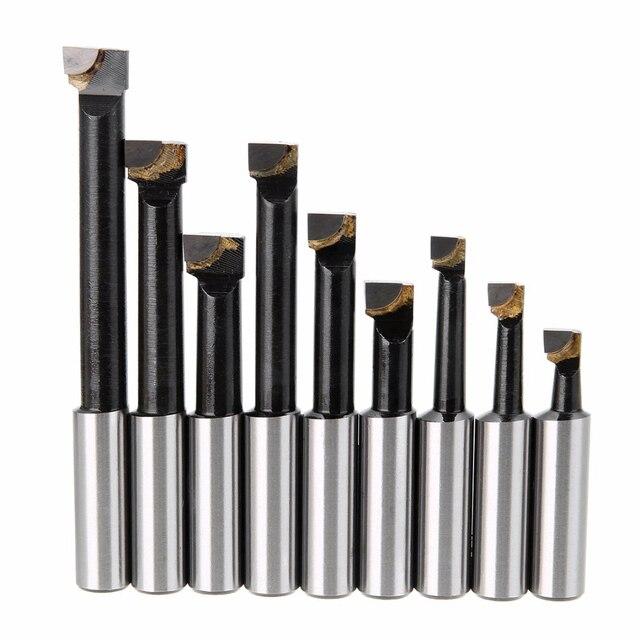 Juego de barra perforadora de vástago de aleación dura de 9 piezas barras con punta de carburo de 12 Mm para mandrinado de 2 pulgadas de 50 Mm cabezal para fresado de torno Mayitr
