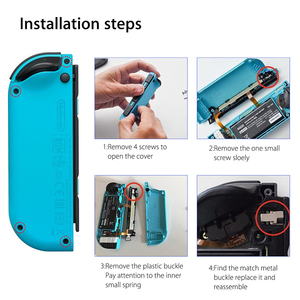 Image 4 - 1set Metal Lock Buckles Repair Tool Kit for Nintendo Switch NS Joy Con NX Joy Con Controller Replacement Parts with Screwdrivers