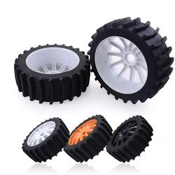 4pcs Newest 1/8 RC Off Road Buggy Snow Sand Paddle Tires Tyre Wheel For HSP HPI Baja