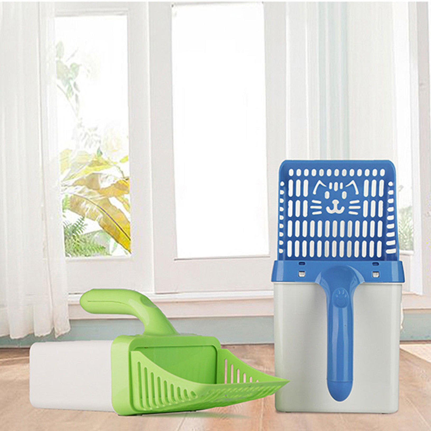 1* Neater Cat Litter Scoop Waste Sifter Pet Sand Shovel Cleaning Tool Set US New