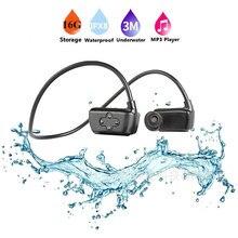 Новейшие Водонепроницаемые 16G HIFI APT-x MP3-плеер IPX8 для плавания на открытом воздухе спортивные наушники USB MP3 Музыкальные плееры