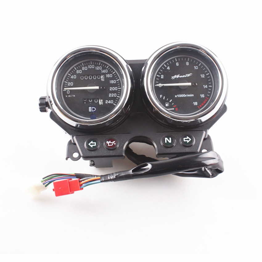 Motorcycle Gauges Speedometer Tachometer Instrument For Honda <font><b>Hornet</b></font> <font><b>600</b></font> 1998 1999 <font><b>2000</b></font> By High Quality ABS Plastic image