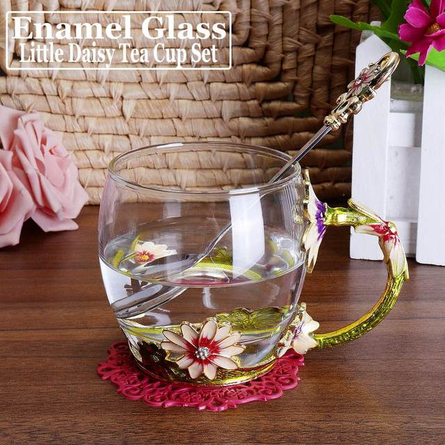 Flower Tea Glass