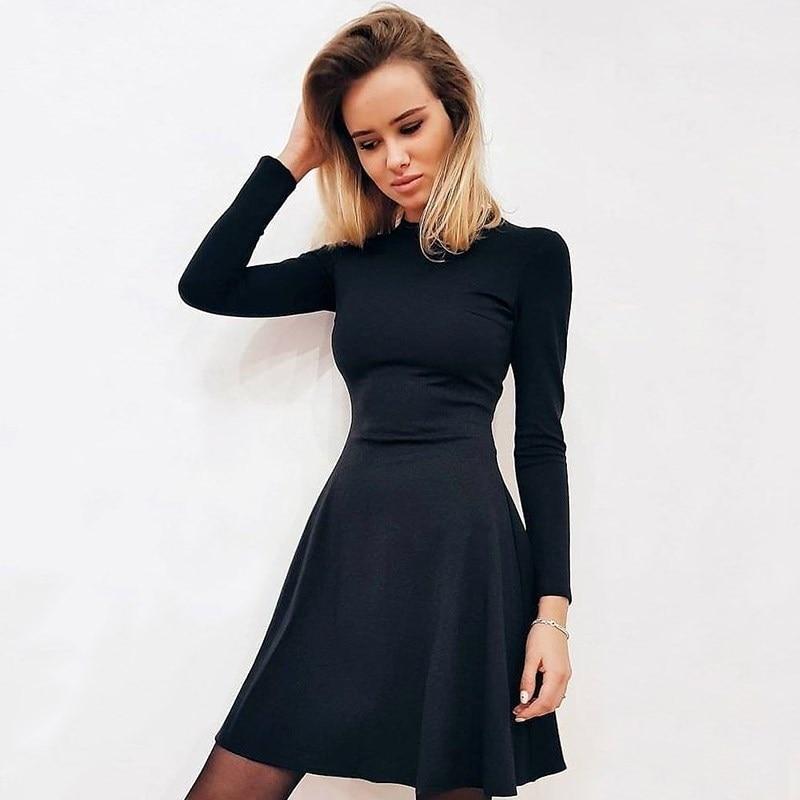 Фото - Dress C.H.I.C female CHIC TmallFS chic plunging neck flare sleeve black women s dress