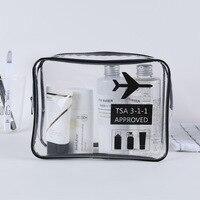 1 pcs TSA 비행 저장 가방 세면 용품 가방 메이크업 여행 지우기 스포츠