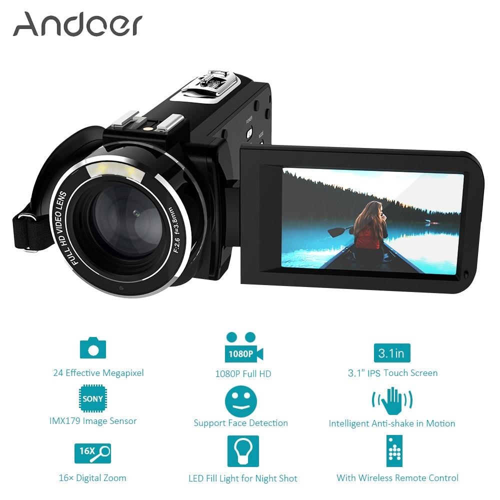 Andoer HDV-Z20 Portable 1080P Full HD Digital Video Camera Max 24 Mega Pixels 16x Digital Zoom Camcorder 3.0