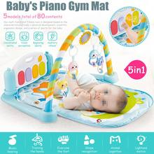 5-in-1 Baby Infant Gym Playmat Activity Floor Playing Mat Fitness Exercise Carpet Rug Piano Musical Educational Toys Gifts Large(China)