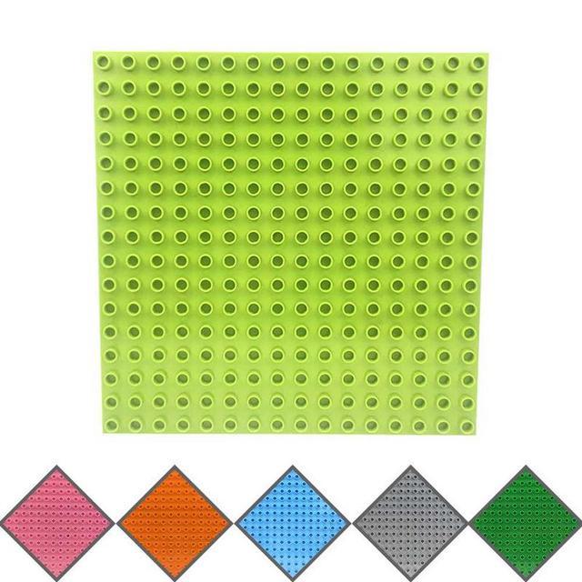 25.5*25.5CM Base Plates Large Particle Building Blocks Compatible Duploed Base Plate Floor Kindergarten Toy Building Blocks