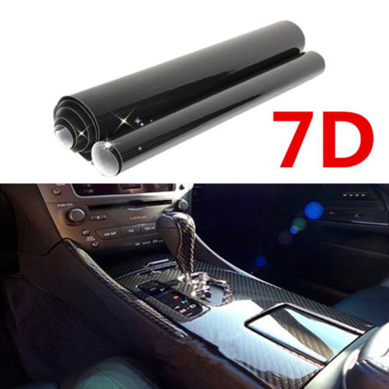 Waterproof 6D Carbon Fiber Wrap Vinyl Decal Film Motorcycle Car Stickers And Decals Car Air Release Wrap Car Styling