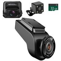 Phisung T691C 4K 2160P+ Rear 1080P FHD Dash Cam Car DVR Rearview Camera+TF Card