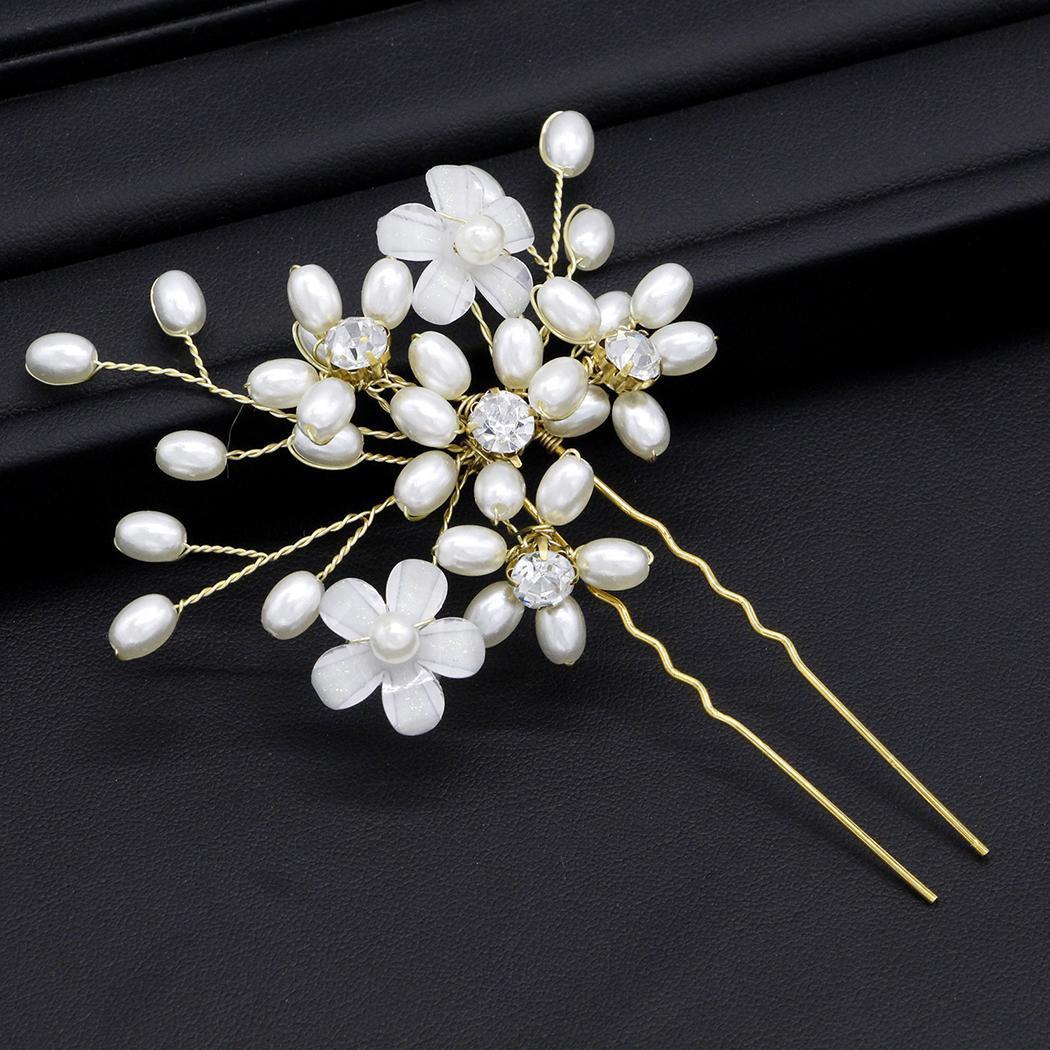 Women Fashion U Shape Plastic Beads Bead, Rhinestone Hair Casual, Party, Wedding Pin Hair Decoration