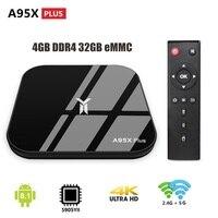 A95X PLUS S905YII 4K HD TV Box Android 8.1 4GB LPDDR4 32GB eMMC Set top Box USB flash drive 2.4/5GHz WiFi BT Smart Media Player