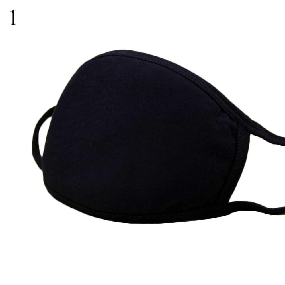 1 PC Cahaya Dalam Gelap Mulut Masker Anti Debu Tetap Hangat Keren Unisex Topeng Hitam Noctilucent Kapas Wajah Topeng