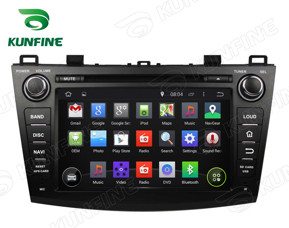8 Inch Quad Core 1024*600 Android 5.1 Car DVD GPS Navigation Player Car Stereo for Mazda 3 2009 2012 with Radio 3G Wifi