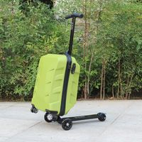 22inch Waterproof Solid PC Ride on Scooter with Suitcase Trolley Checked Box Baby Scooter Power Wheel Toys for Children Girls