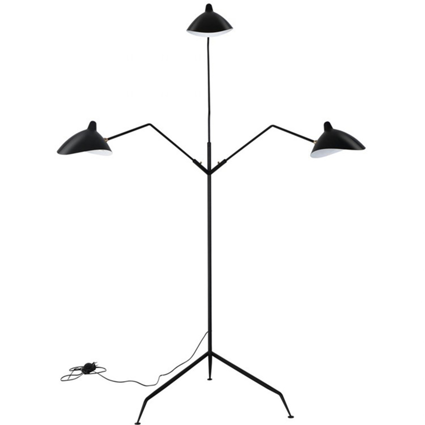 Image 3 - Modern Replica Design Black Floor Lamp Mantis Arm Floor Standing Lamp Nordic Loft Industrial Bedroom Decorate Standing Lamp-in Floor Lamps from Lights & Lighting