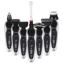 Kemei Multifunctional Hair Clipper Trimmer Rechargeable Wireless Razor Comb Nose Hair Trimmer Cutter Hair Styling Salon Tools