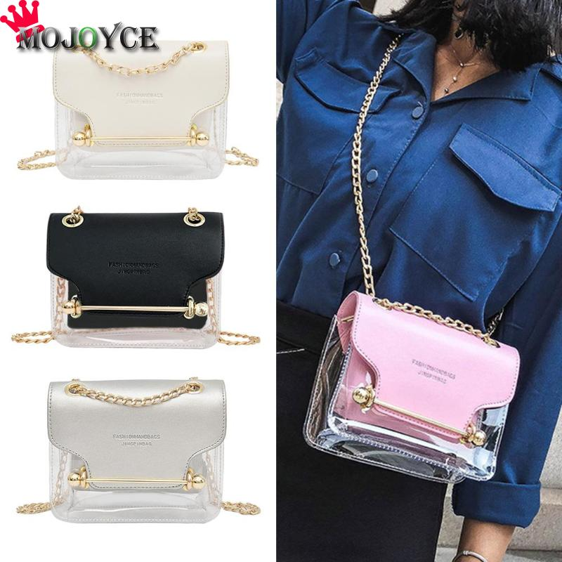 Women fashion Transparent female bag 2019 new small fresh super fire letter handbag jelly female bag shoulder Messenger bagWomen fashion Transparent female bag 2019 new small fresh super fire letter handbag jelly female bag shoulder Messenger bag
