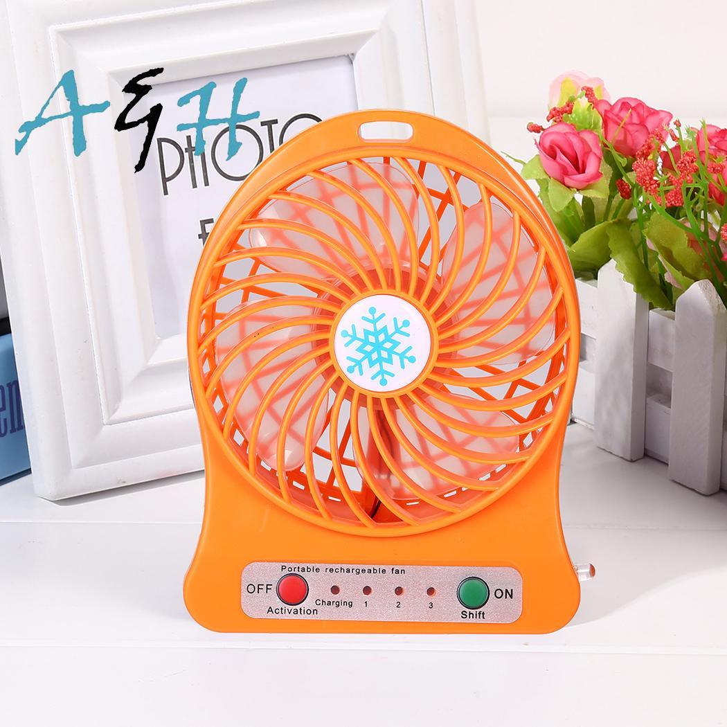 Portable Rechargeable Mini USB Fan Desk 3 5-9V Home, Office, etc. Speeds Battery Operated Air 4.5W Cooler Fan