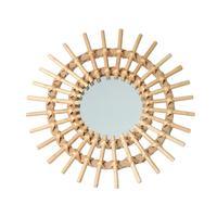 Солнце декоративная форма зеркало из ротанга инновационные украшения искусства круглое зеркало для макияжа туалетный Ванная комната Наст...
