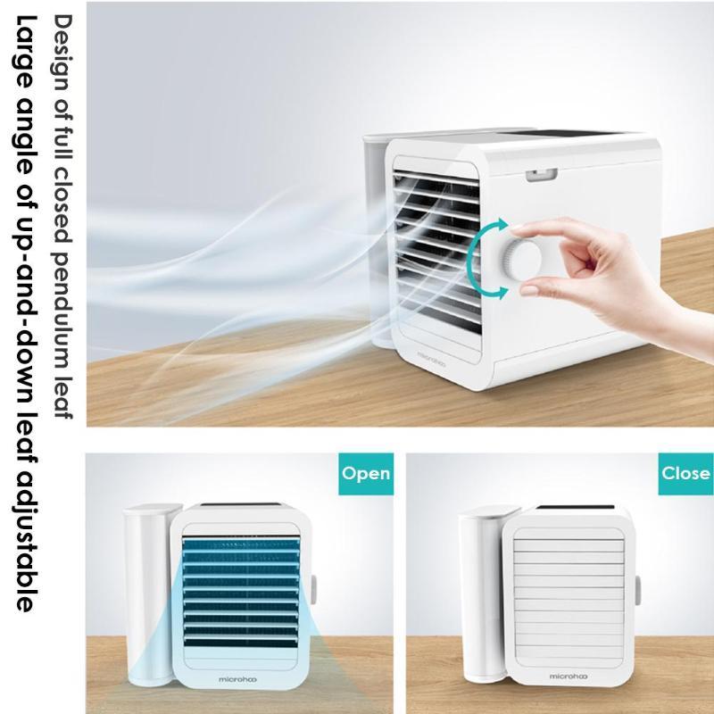 Mini USB climatiseur refroidisseur humidificateur purificateur bureau Air refroidissement ventilateur 1000 ml réservoir d'eau Air refroidissement ventilateur pour bureau à domicile