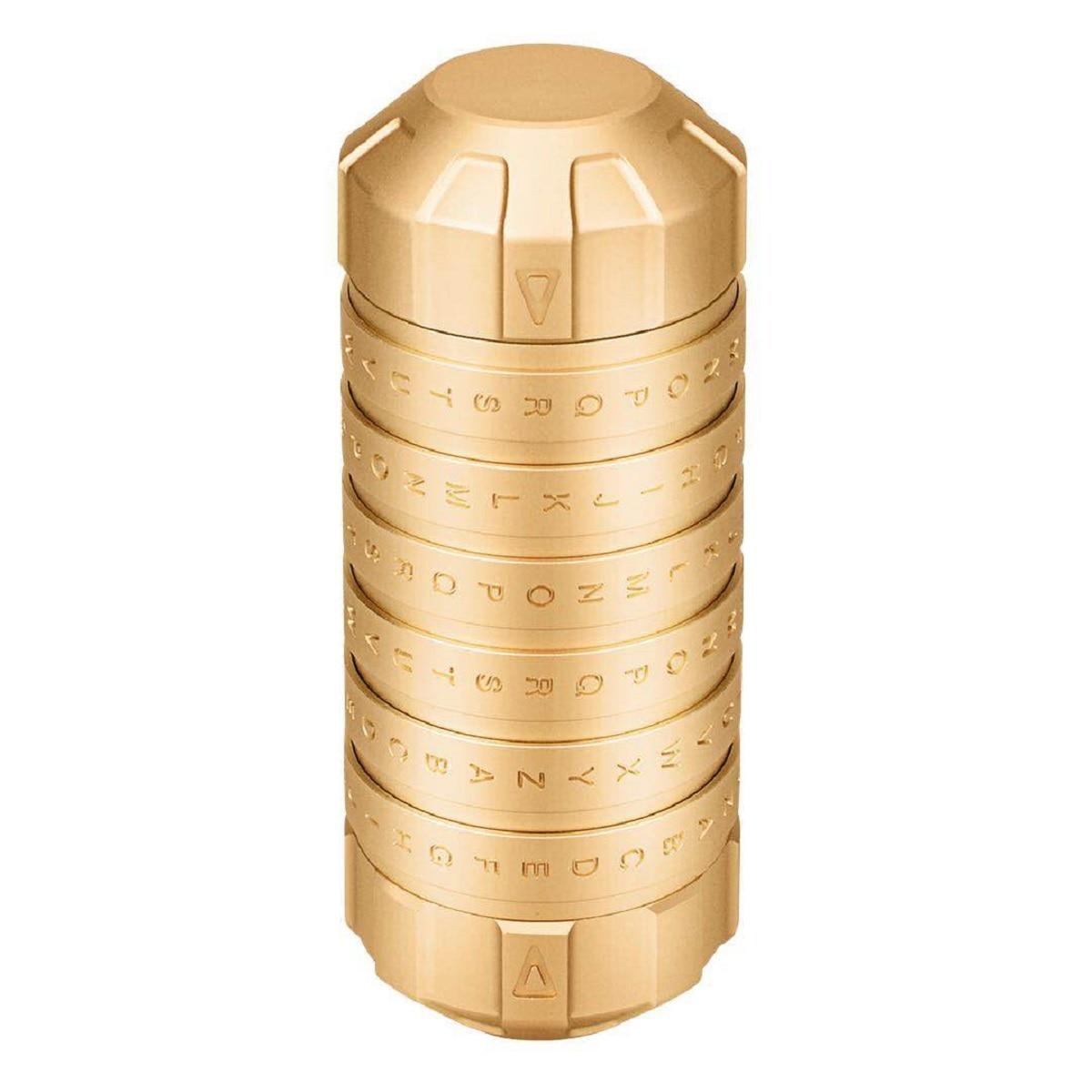 Mode nouveau Style jouets éducatifs en métal Cryptex serrures idées cadeaux Da Vinci Code serrure pour épouser les accessoires de chambre d'évasion amoureux - 3