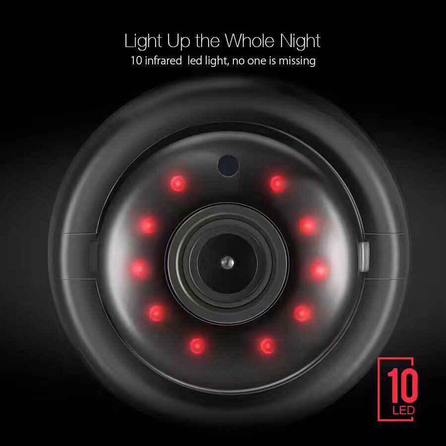 1080 1080P ミニワイヤレスセキュリティビューアカメラナイトビジョン Ip 広角視野とモーション検知カメラ米国 /EU プラグ