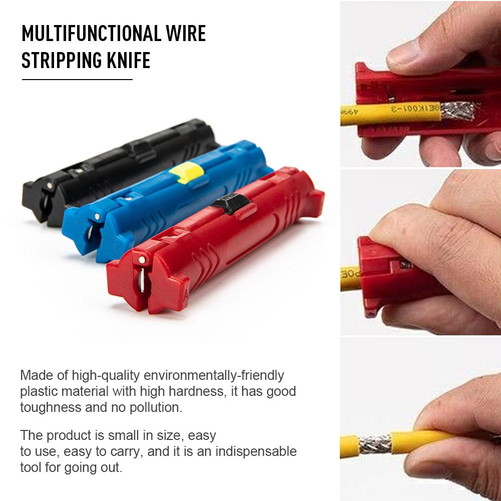 Multi-function Electric Wire Stripper Pen Rotary Coaxial Wire Cable Pen Cutter Stripping Machine Pliers Tool For Cable Puller To