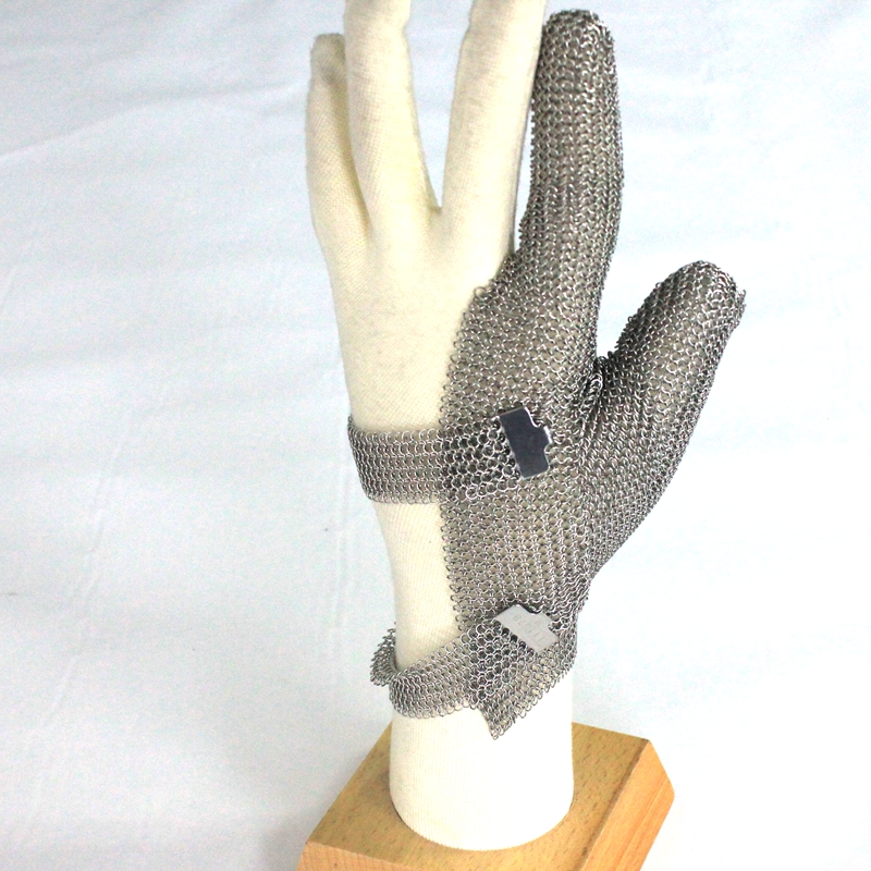 Two Finger All Mesh Stainless Steelprotect Glove  Two Finger Steel Glove  Seafood Glove Mesh Glove For Butcher