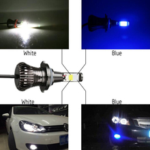 2X Dual Color led fog Lights H1 H3 H7 H11 9005 9006 880 881 H16 White Yellow Car LED Signal lamps for Toyota Camry Auris Celica