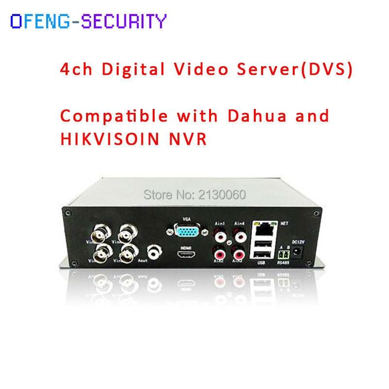 4CH Video Input Digital Video Server (DVS) With Vedio Output 1 CVBS + 1 HDMI + 1VGA