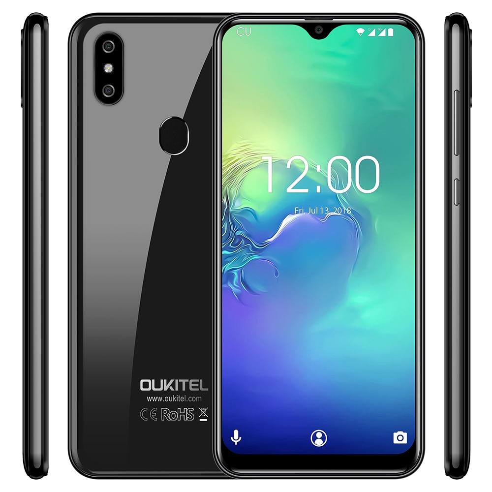 OUKITEL C15 Pro 4G Smartphone 6.088 pulgadas Android 9,0 pastel MT6761 Quad Core 2,0 GHz IMG GE8300 2 GB RAM 16 GB ROM de huellas dactilares 3200 mAh