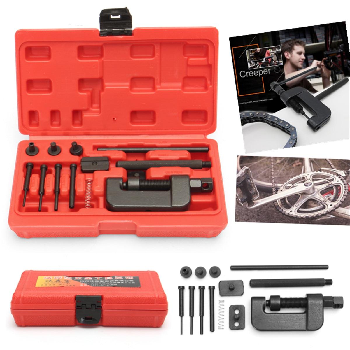 13pcs//set Chain Cutter Breaker Riveting Tool  ATV//Bike//Motorcycle//Cam Drive