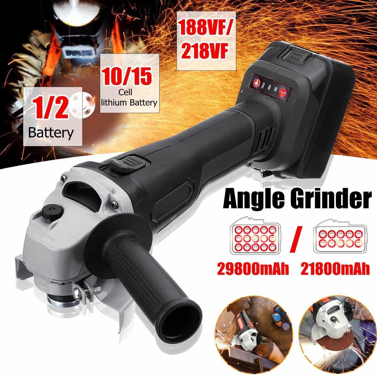 188VF/218VF Electric Angle Grinder Cordless Polisher 21800mah/29800mah Polishing Machine Cutting Tool Set