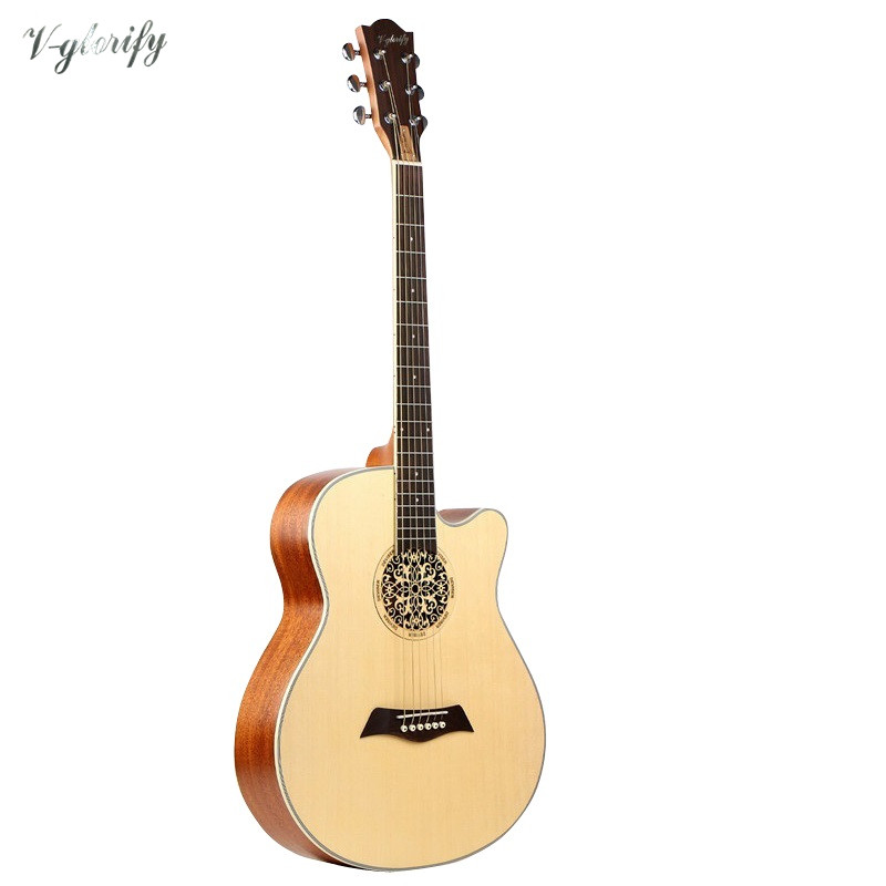 factory guitarra  new 40inch cutway acoustic electric guitar A-shaped free shippingfactory guitarra  new 40inch cutway acoustic electric guitar A-shaped free shipping