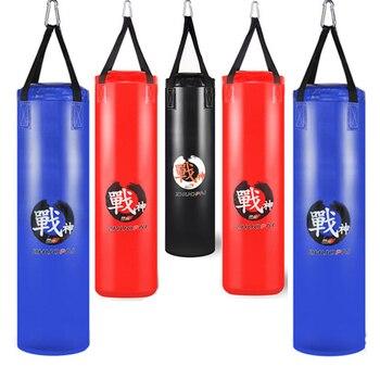 4452cfe89 De calidad superior de Boxeo de cuero de la PU bolsa de deporte de lucha  Saco bolsa de arena para el alivio del estrés gimnasio entrenamiento  aeróbico ...