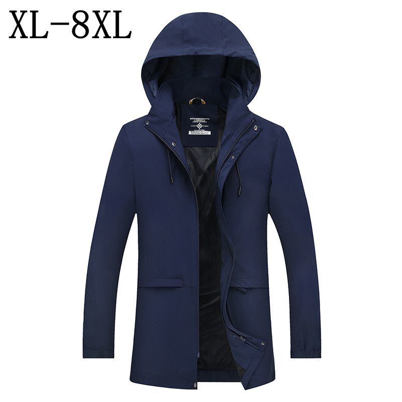 Trench Jackets & Coats Intellective Trench Coat Men Brand Clothing Top Quality Trench Coat Male Clothing Hooded Long Windbreaker Jackets & Coats Plus Size 7xl 8xl Hot Sale 50-70% OFF