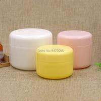 50pcs/lot 100g 150g Refillable Bottles Plastic Empty Makeup Jar Pot Travel Face Cream/Lotion/Cosmetic Container