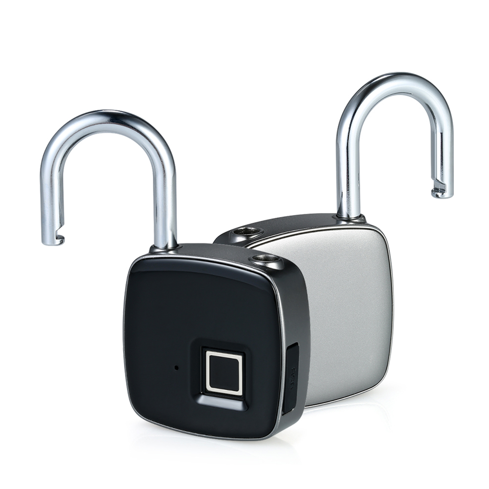 1 Pc Fingerprint Padlock USB Keyless Smart Lock For House Door Suitcase Backpack Gym Bike Office