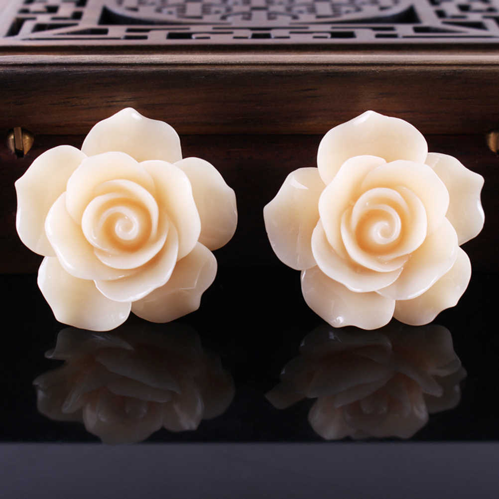50X Resin Rose Flower Flatback Cabochon DIY Jewelry Craft Phone Case Accessories