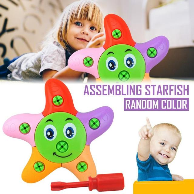 Early Intelligence Star Disassembly And Assembly Of Toys DIY Handmade Toys Color Randomised Combination Building Block Toy