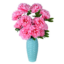 A Generation of Fat Artificial Flowers Peony to Beam 8 Head Landing Decoration Engineering Floral Hall Home