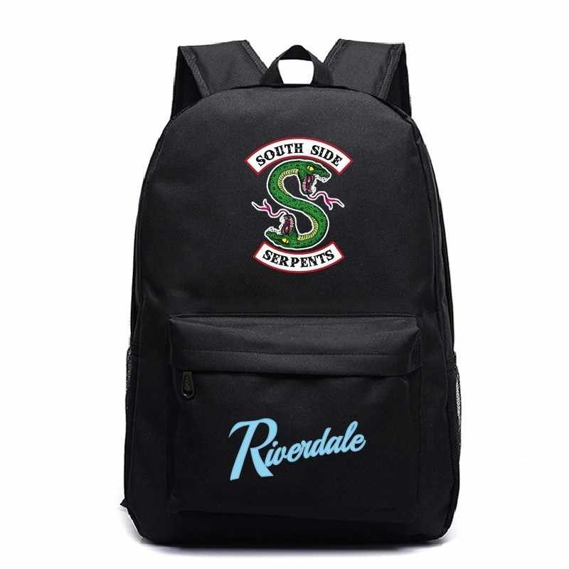 Anime Cosplay Backpacks Riverdale 1 South Side Serpents Mochila Mujer Laptop Sac A Dos Backbag Men Travel Schoolbag Book Bag