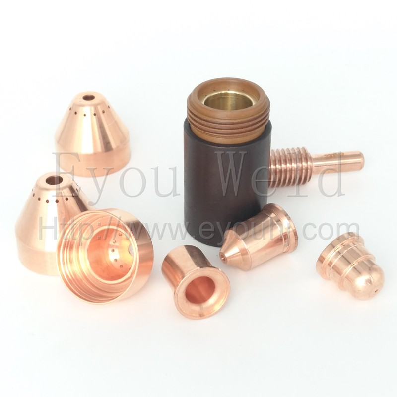 20pcs 45A Consumables Nozzle 220941 Electrode 220842 for Plasma Cutting Machine
