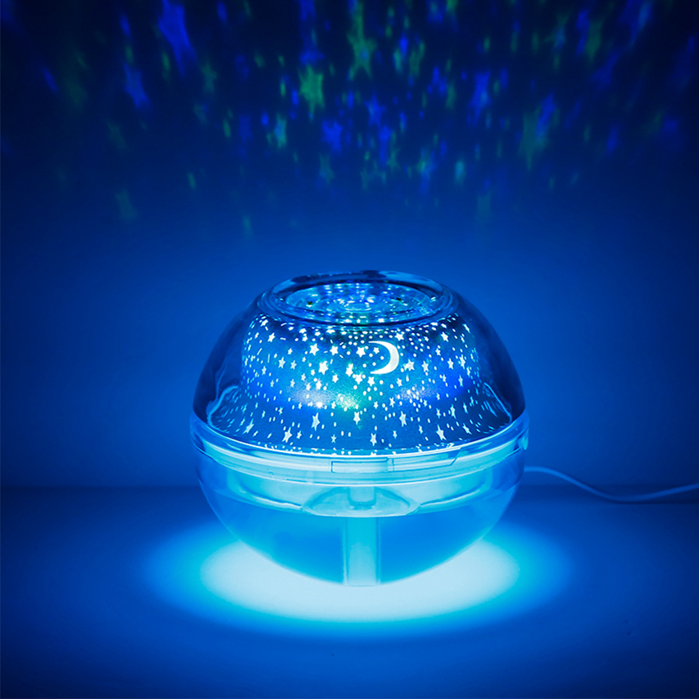 Crystal Night Light Starry Sky Projection Humidifier Multifunction LED Atmosphere Home Decor Colorful Changing Lamp Gift