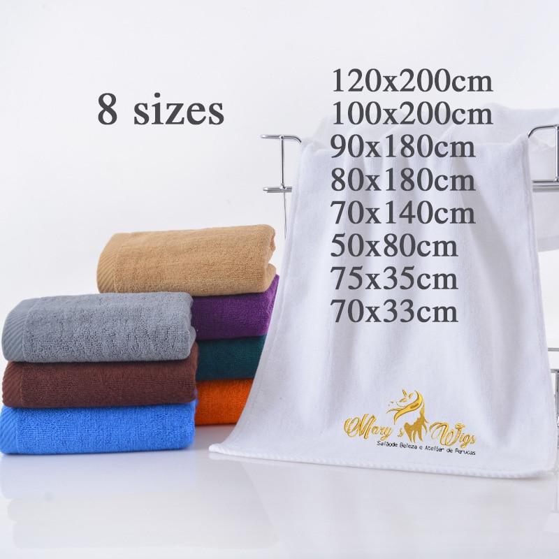 12 pièces broderie serviette coton serviette de bain personnalisé brodé serviette de visage personnalisé personnalisé sport serviette de plage avec Logo doux