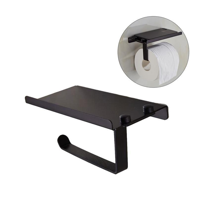 1 pc Tissue Holder Multifunction Simple Stainless Steel Paper Roll Holder Tissue Bracket Paper Holder Towel Hanger for Toilet