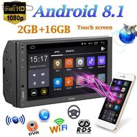 7 2 Din Android 1080P Blu ray Car Radio Stereo Quad Core Car MP5 Player Bluetooth WIFI GPS Navigator Multimidia